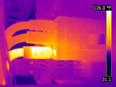 infrared image of electrical equipment