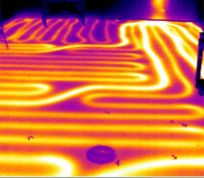 Radiant Heat Leak Detection Infrared Thermal Imaging